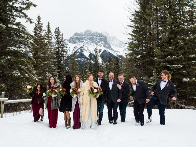 Trent and Kyrstin's wedding in Canmore, Alberta 47