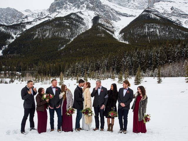 Trent and Kyrstin's wedding in Canmore, Alberta 49