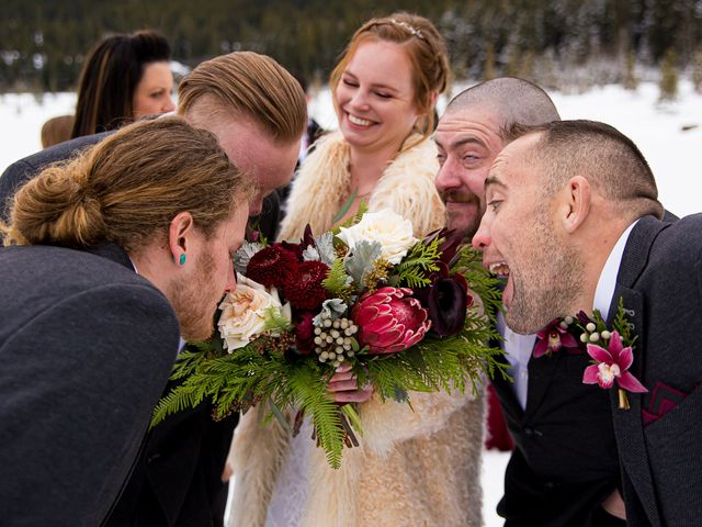 Trent and Kyrstin's wedding in Canmore, Alberta 50