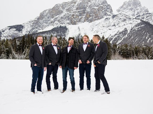 Trent and Kyrstin's wedding in Canmore, Alberta 54