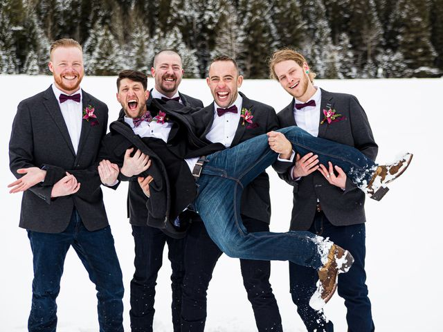 Trent and Kyrstin's wedding in Canmore, Alberta 55
