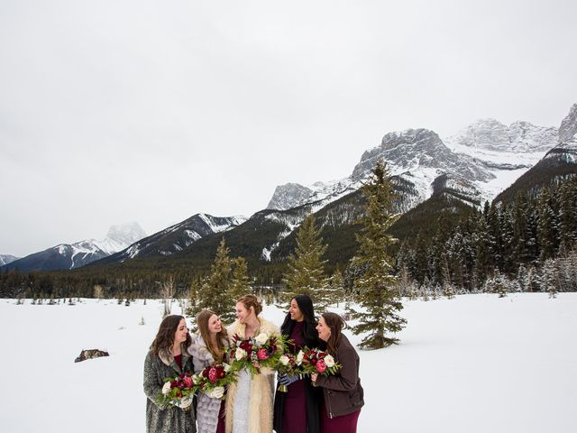 Trent and Kyrstin's wedding in Canmore, Alberta 57