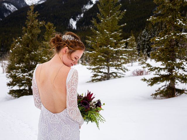 Trent and Kyrstin's wedding in Canmore, Alberta 61