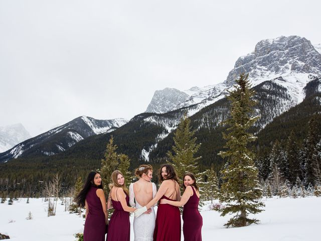 Trent and Kyrstin's wedding in Canmore, Alberta 63