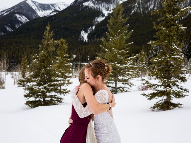 Trent and Kyrstin's wedding in Canmore, Alberta 65