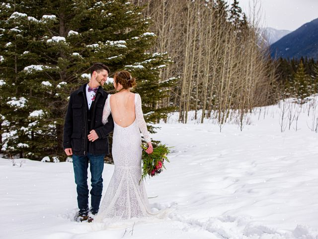 Trent and Kyrstin's wedding in Canmore, Alberta 78
