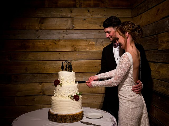 Trent and Kyrstin's wedding in Canmore, Alberta 1