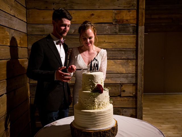 Trent and Kyrstin's wedding in Canmore, Alberta 100