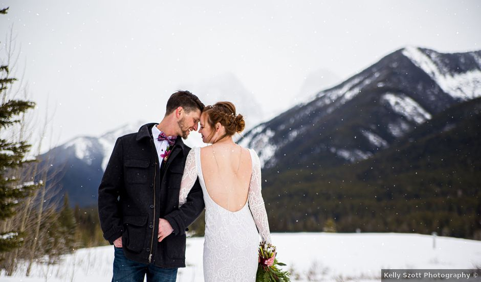 Trent and Kyrstin's wedding in Canmore, Alberta