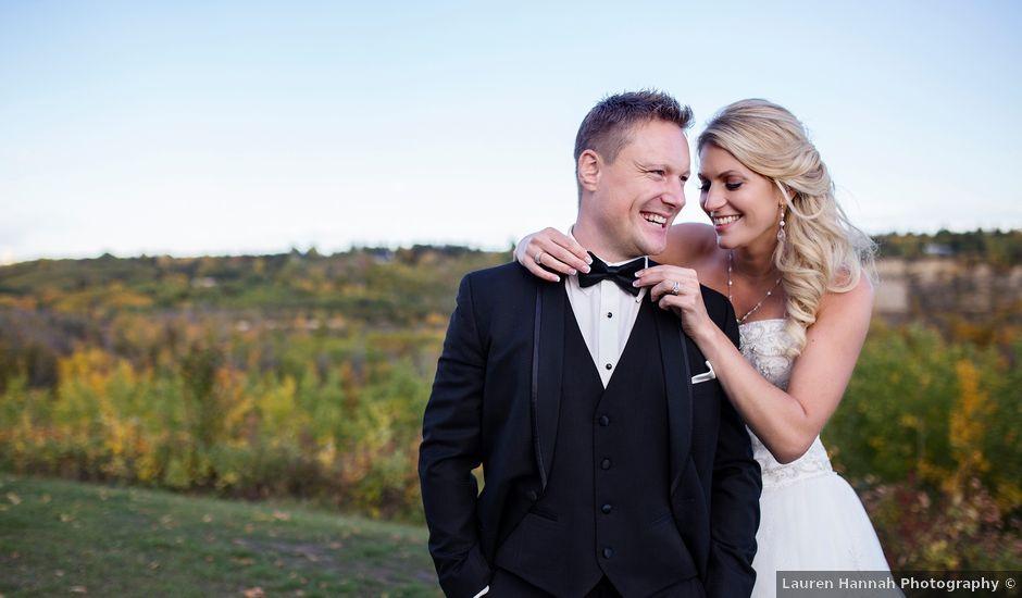 Jordan and Andrea's wedding in Edmonton, Alberta