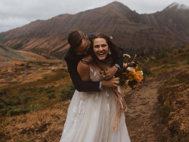 Alex and Kayley's wedding in Kananaskis, Alberta 1