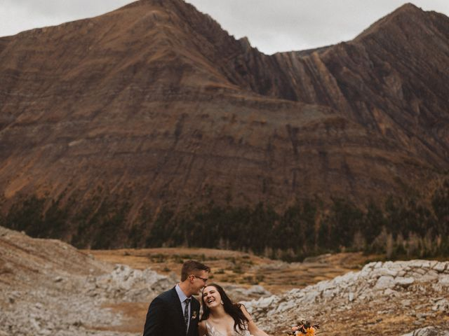 Alex and Kayley's wedding in Kananaskis, Alberta 17