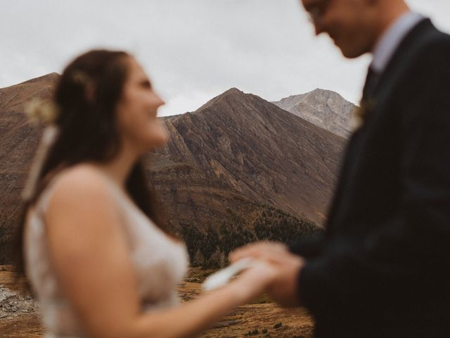 Alex and Kayley's wedding in Kananaskis, Alberta 21