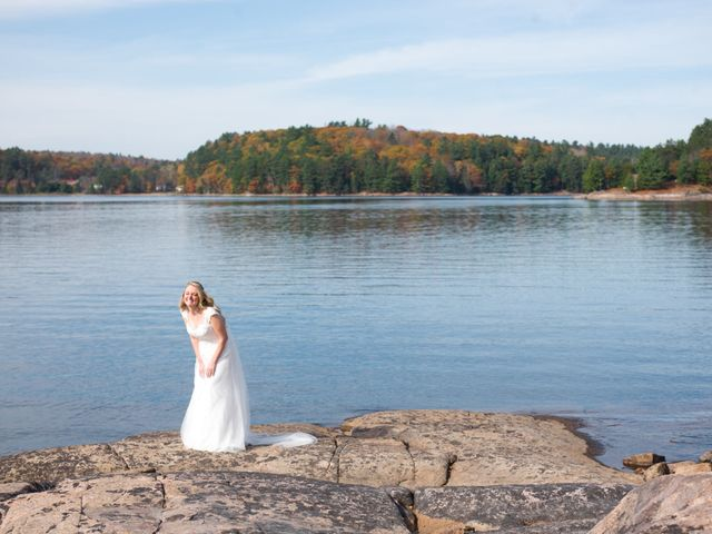 Jeff and Laura's wedding in Algonquin Highlands, Ontario 16