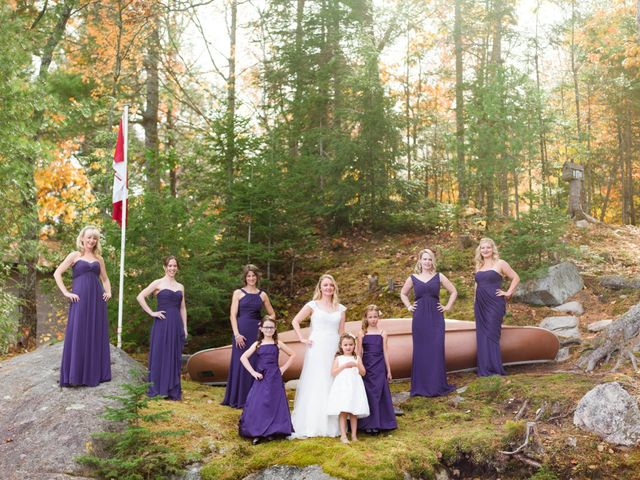 Jeff and Laura's wedding in Algonquin Highlands, Ontario 34