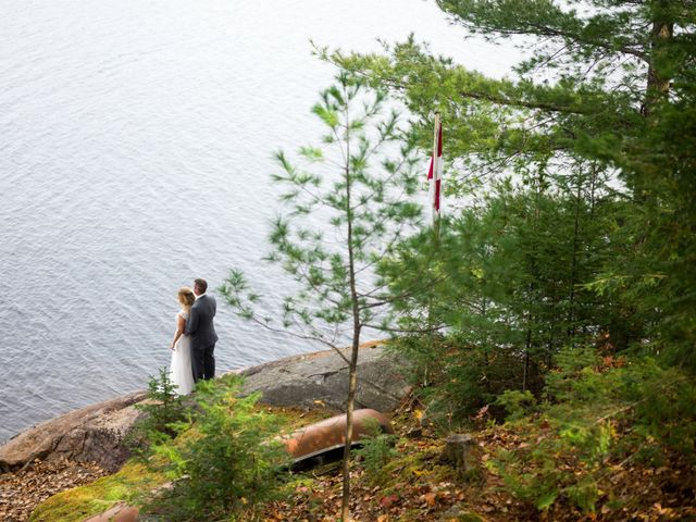 Jeff and Laura's wedding in Algonquin Highlands, Ontario 42