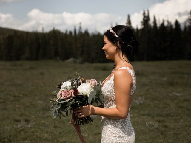 Dysin and Brittney's wedding in Canmore, Alberta 38