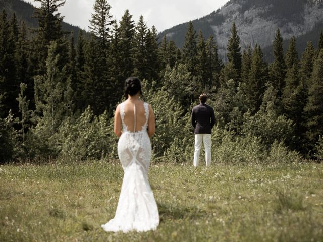 Dysin and Brittney's wedding in Canmore, Alberta 39