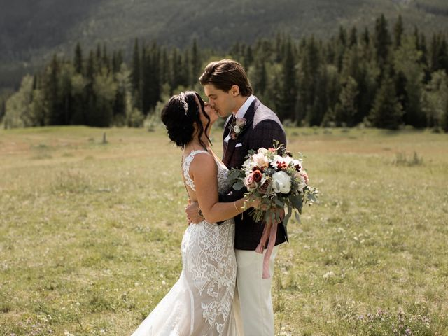 Dysin and Brittney's wedding in Canmore, Alberta 42