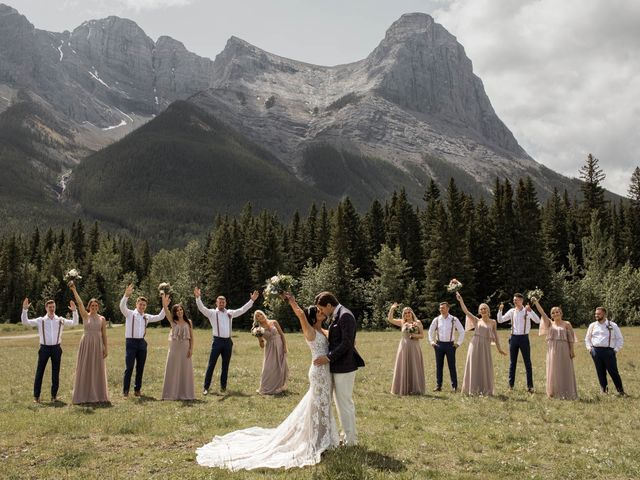 Dysin and Brittney's wedding in Canmore, Alberta 1