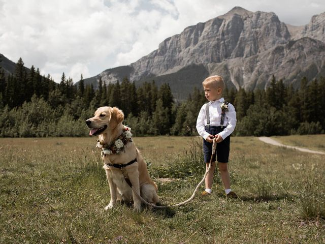 Dysin and Brittney's wedding in Canmore, Alberta 55