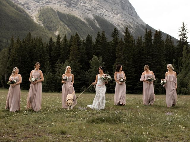 Dysin and Brittney's wedding in Canmore, Alberta 56