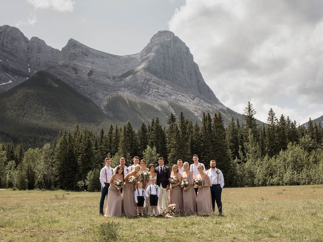 Dysin and Brittney's wedding in Canmore, Alberta 58