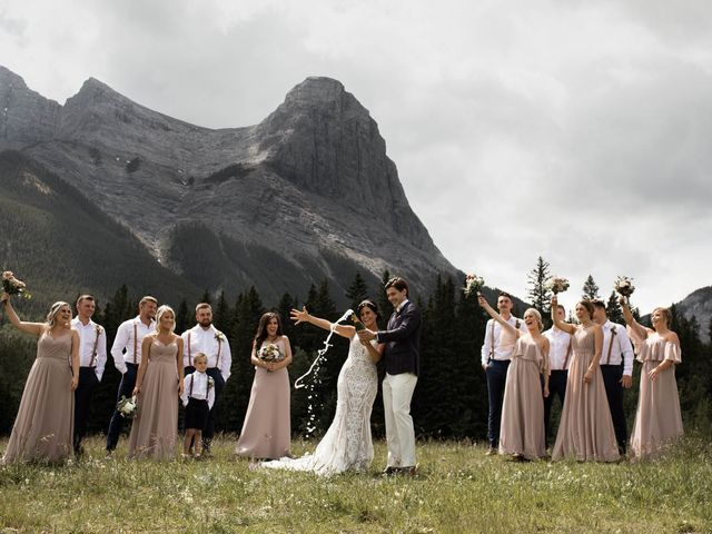 Dysin and Brittney's wedding in Canmore, Alberta 59