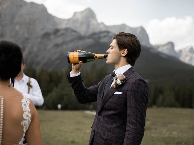 Dysin and Brittney's wedding in Canmore, Alberta 61