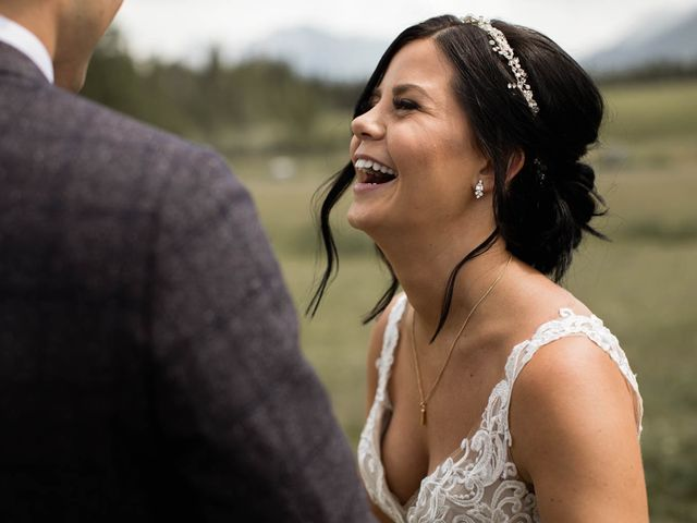 Dysin and Brittney's wedding in Canmore, Alberta 62