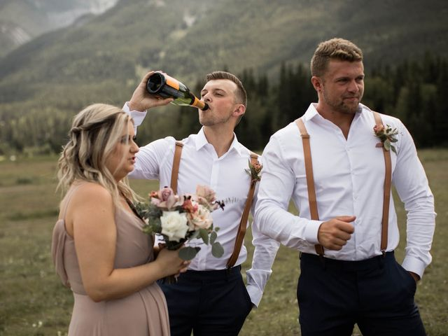 Dysin and Brittney's wedding in Canmore, Alberta 64