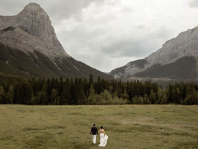 Dysin and Brittney's wedding in Canmore, Alberta 67