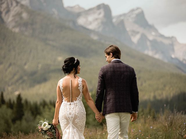 Dysin and Brittney's wedding in Canmore, Alberta 76
