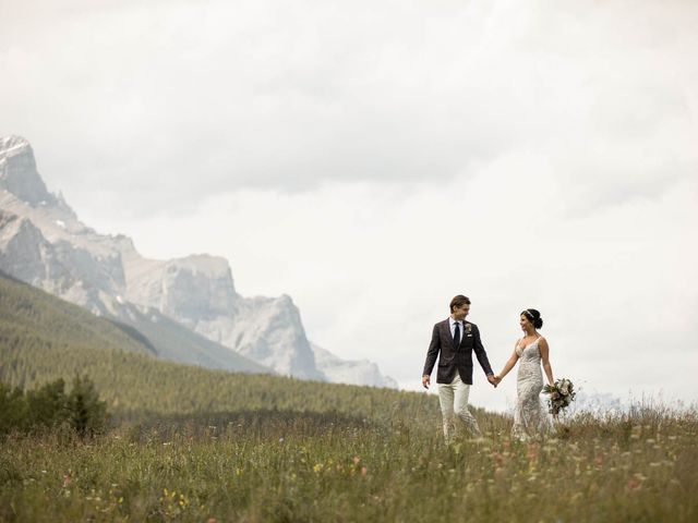 Dysin and Brittney's wedding in Canmore, Alberta 77