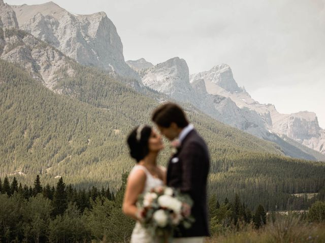 Dysin and Brittney's wedding in Canmore, Alberta 79
