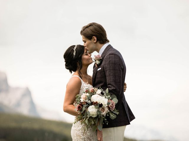 Dysin and Brittney's wedding in Canmore, Alberta 83