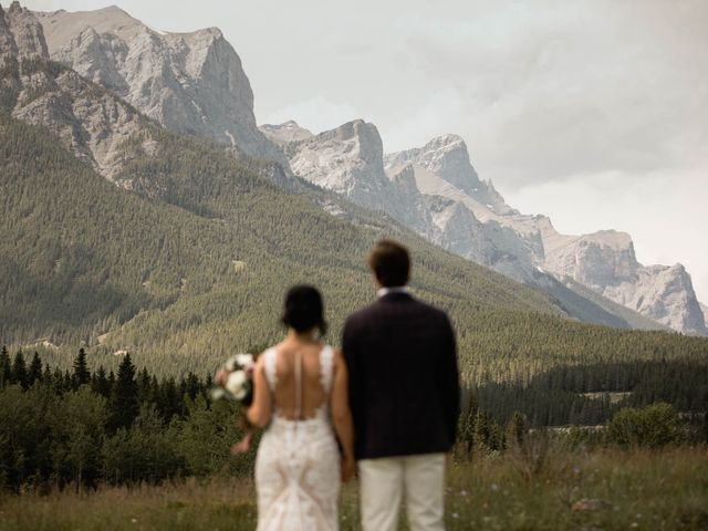 Dysin and Brittney's wedding in Canmore, Alberta 84