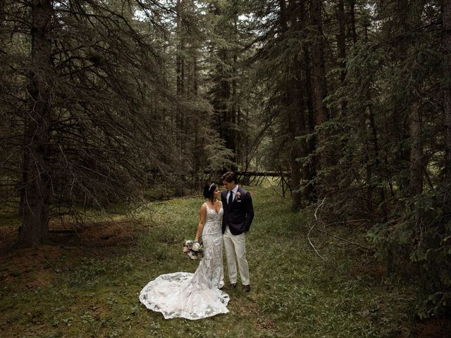 Dysin and Brittney's wedding in Canmore, Alberta 88