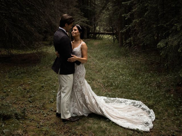 Dysin and Brittney's wedding in Canmore, Alberta 89