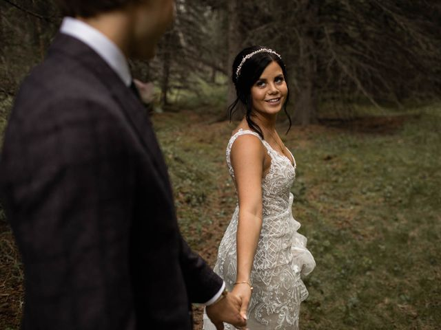 Dysin and Brittney's wedding in Canmore, Alberta 91