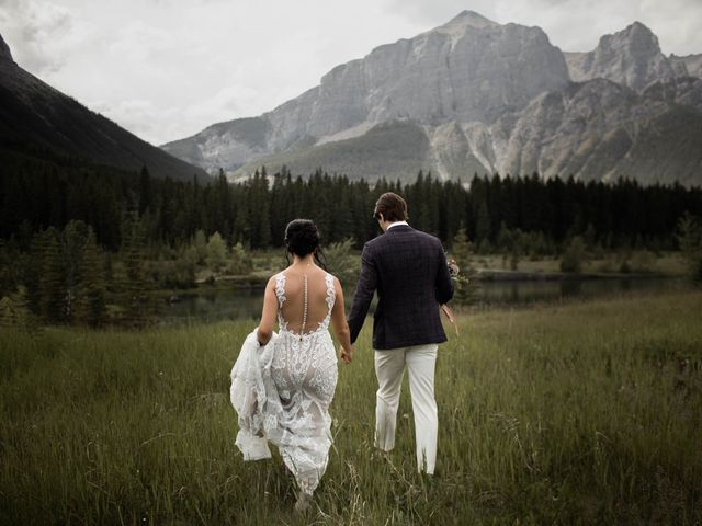 Dysin and Brittney's wedding in Canmore, Alberta 93