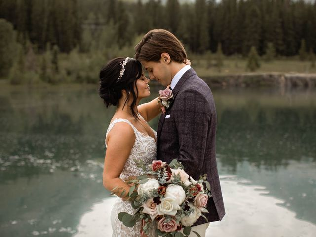 Dysin and Brittney's wedding in Canmore, Alberta 95