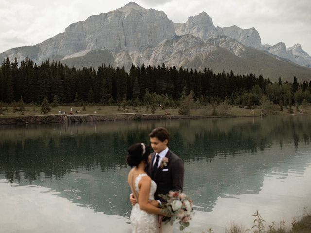 Dysin and Brittney's wedding in Canmore, Alberta 96