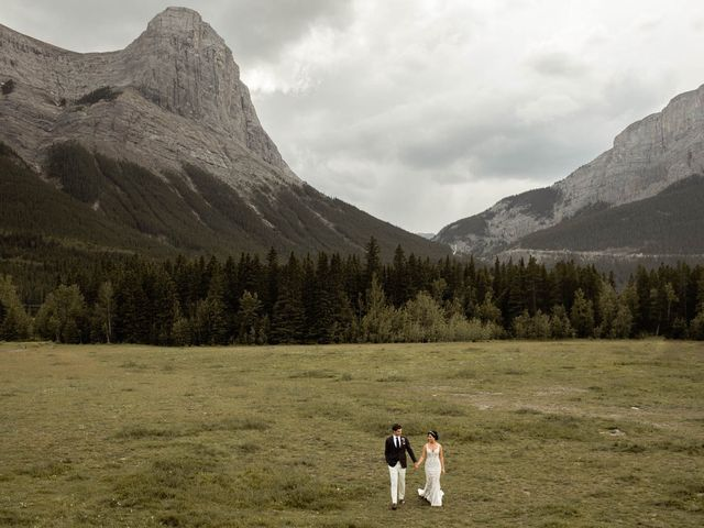 Dysin and Brittney's wedding in Canmore, Alberta 97