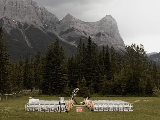 Dysin and Brittney's wedding in Canmore, Alberta 99