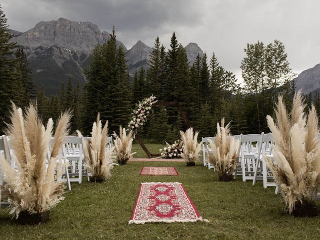 Dysin and Brittney's wedding in Canmore, Alberta 100