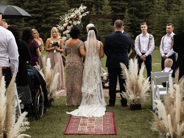 Dysin and Brittney's wedding in Canmore, Alberta 123