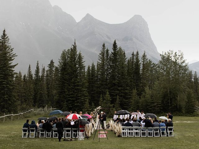 Dysin and Brittney's wedding in Canmore, Alberta 124