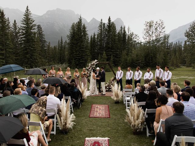 Dysin and Brittney's wedding in Canmore, Alberta 128