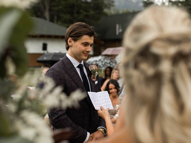 Dysin and Brittney's wedding in Canmore, Alberta 136